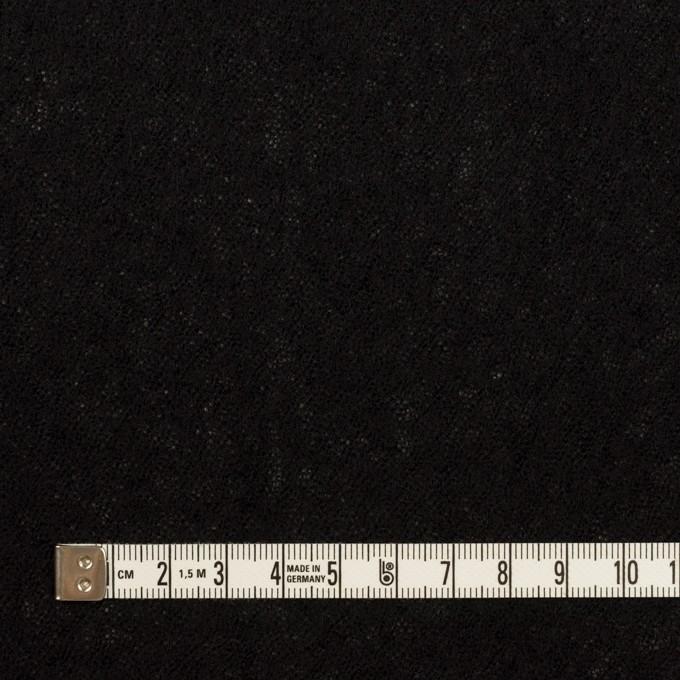 ウール×無地(ブラック)×ガーゼ イメージ4
