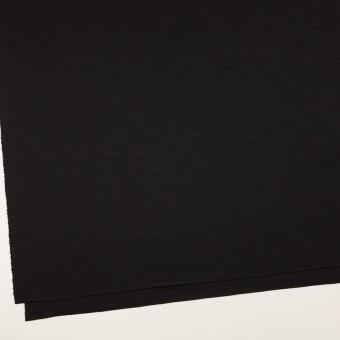 ウール×無地(ブラック)×スムースニット_イタリア製 サムネイル2