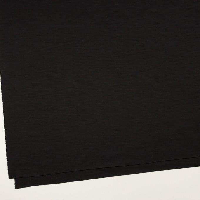 ウール×無地(ブラック)×スムースニット_イタリア製 イメージ2
