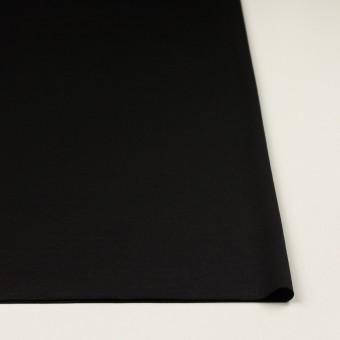 ウール×無地(ブラック)×スムースニット_イタリア製 サムネイル3