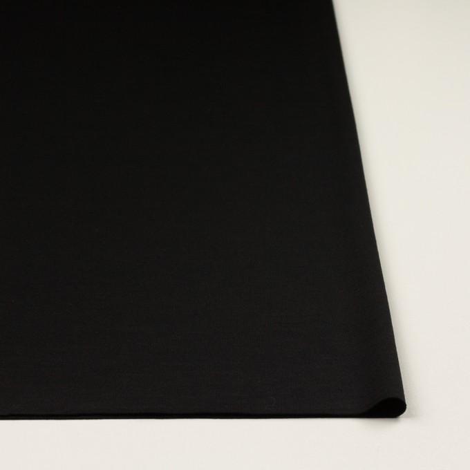ウール×無地(ブラック)×スムースニット_イタリア製 イメージ3
