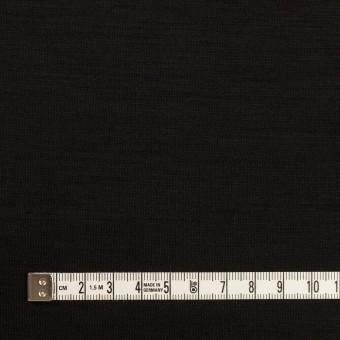 ウール×無地(ブラック)×スムースニット_イタリア製 サムネイル4