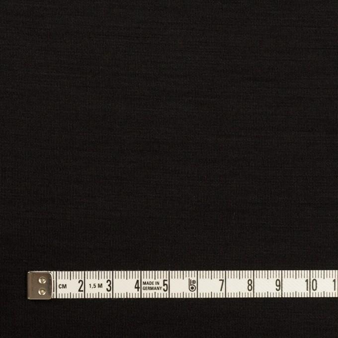 ウール×無地(ブラック)×スムースニット_イタリア製 イメージ4