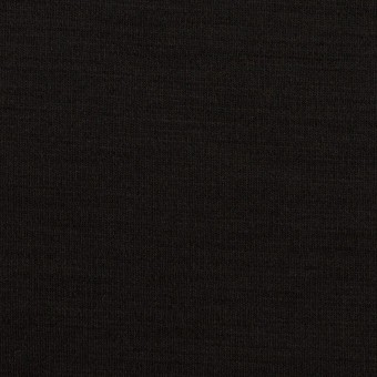 ウール×無地(ブラック)×スムースニット_イタリア製