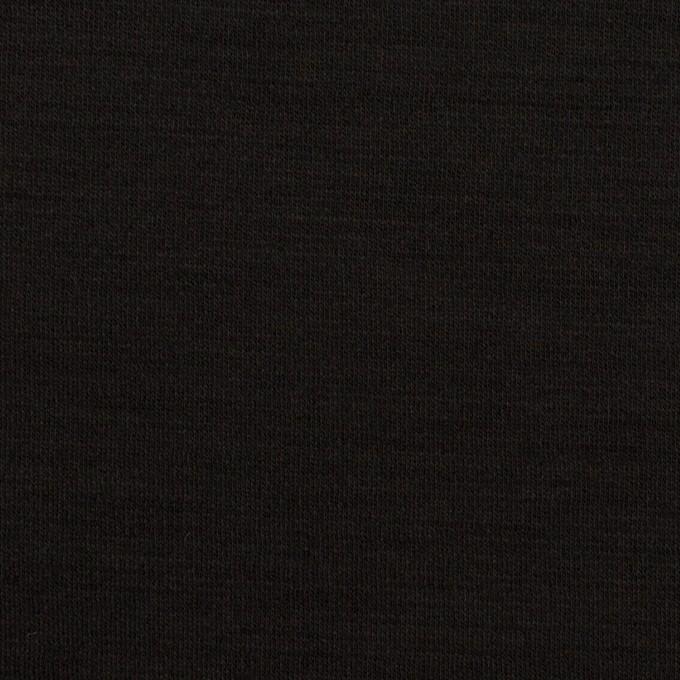 ウール×無地(ブラック)×スムースニット_イタリア製 イメージ1
