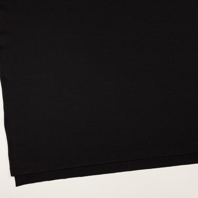 ウール×無地(ブラック)×天竺ニット イメージ2
