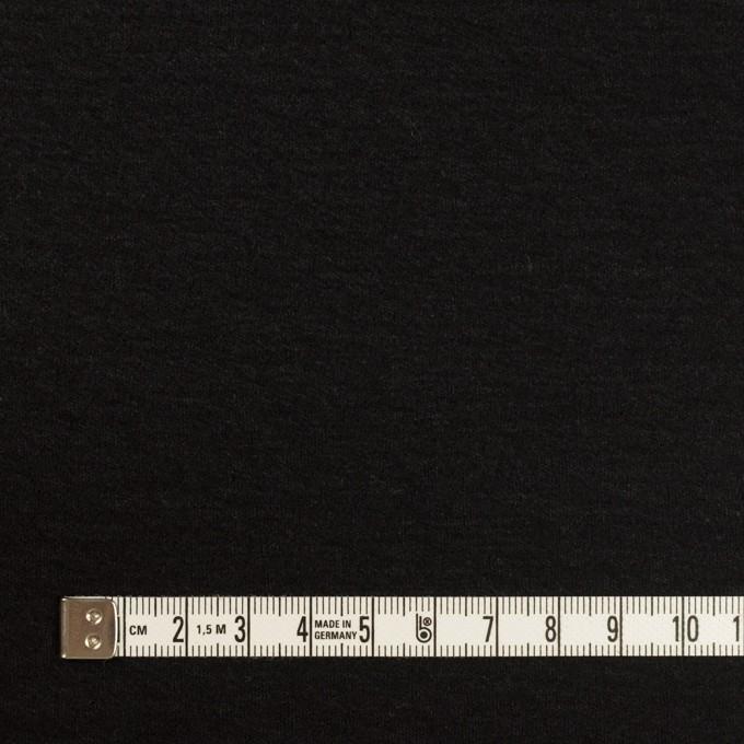 ウール×無地(ブラック)×圧縮ニット イメージ4