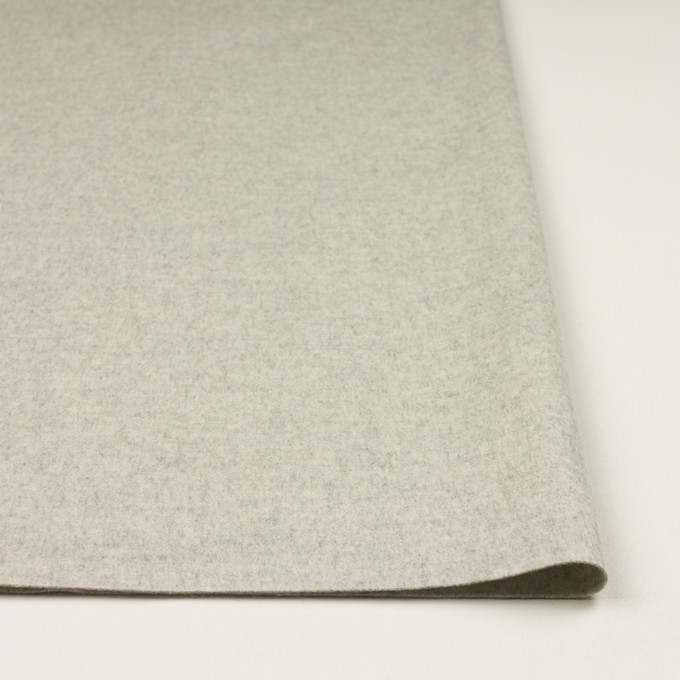 ウール&カシミア×無地(オイスター)×フラノ(フランネル) イメージ3