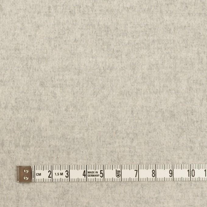ウール&カシミア×無地(オイスター)×フラノ(フランネル) イメージ4