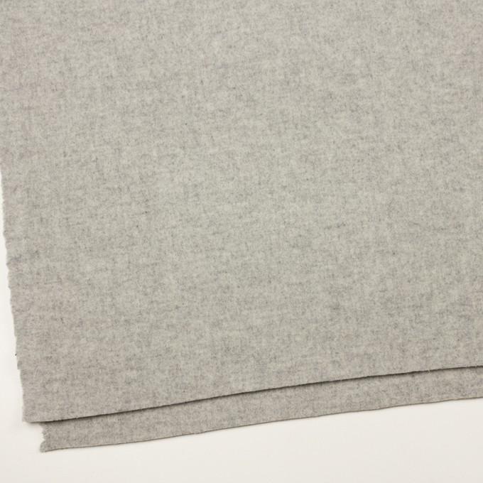 ウール&アクリル混×無地(グレー)×Wフェイス・フラノ イメージ2