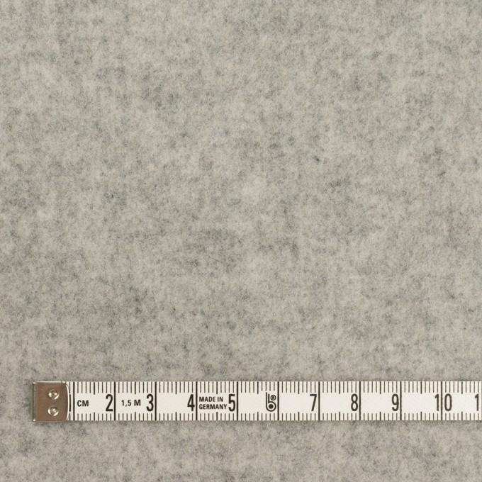 ウール&アクリル混×無地(グレー)×Wフェイス・フラノ イメージ4