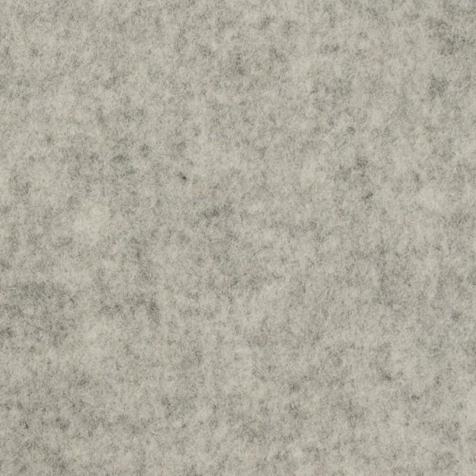 ウール&アクリル混×無地(グレー)×Wフェイス・フラノ イメージ1