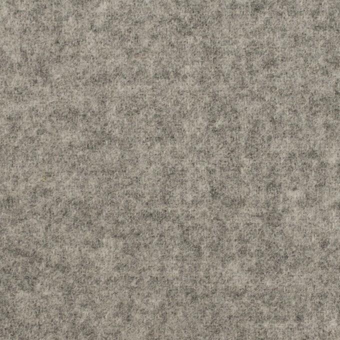 ウール×無地(グレー)×Wフェイス・フラノ イメージ1