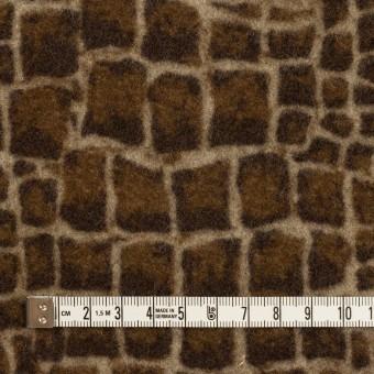 ウール×幾何学模様(ブラウン)×かわり織_全2色 サムネイル4