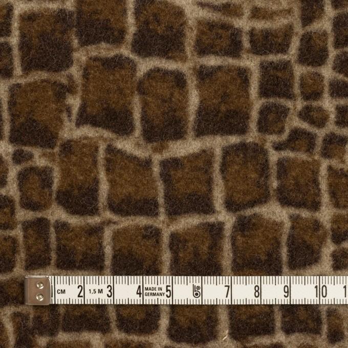 ウール×幾何学模様(ブラウン)×かわり織_全2色 イメージ4