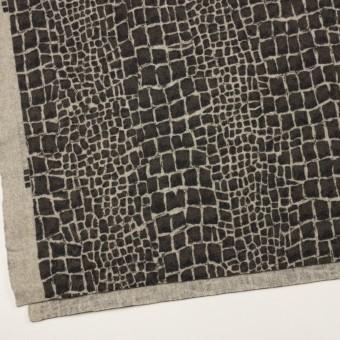 ウール×幾何学模様(チャコールグレー)×かわり織_全2色 サムネイル2