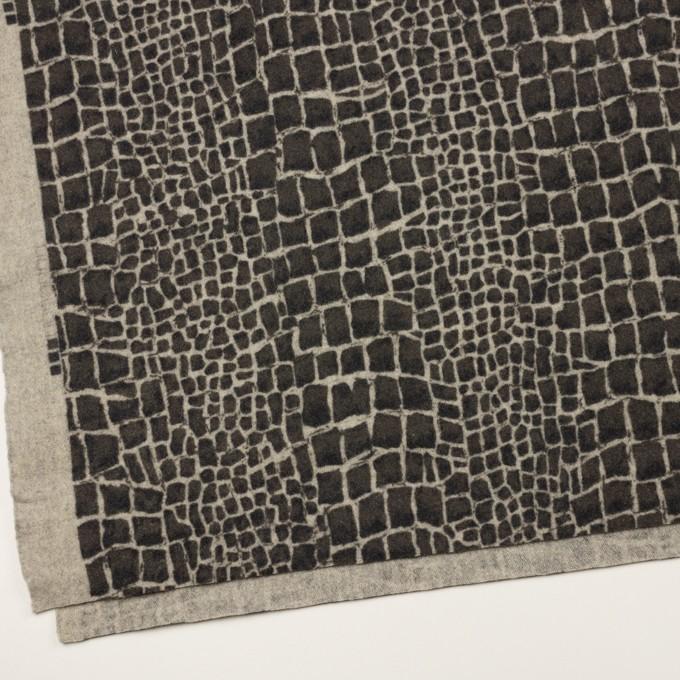 ウール×幾何学模様(チャコールグレー)×かわり織_全2色 イメージ2
