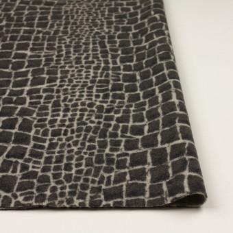 ウール×幾何学模様(チャコールグレー)×かわり織_全2色 サムネイル3