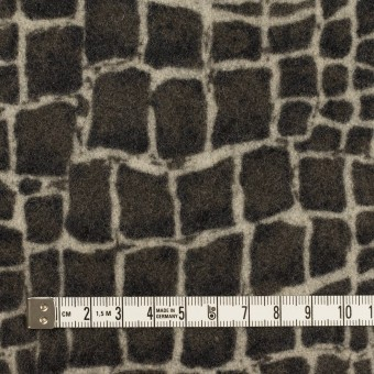 ウール×幾何学模様(チャコールグレー)×かわり織_全2色 サムネイル4
