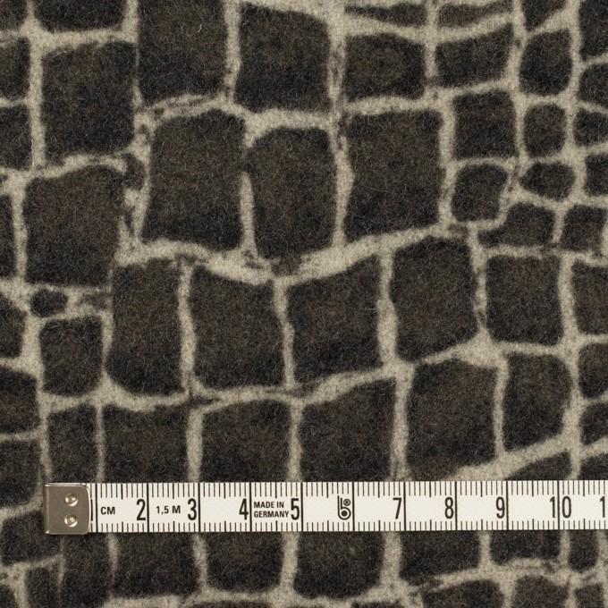 ウール×幾何学模様(チャコールグレー)×かわり織_全2色 イメージ4