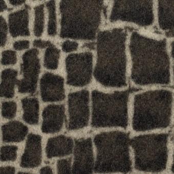 ウール×幾何学模様(チャコールグレー)×かわり織_全2色
