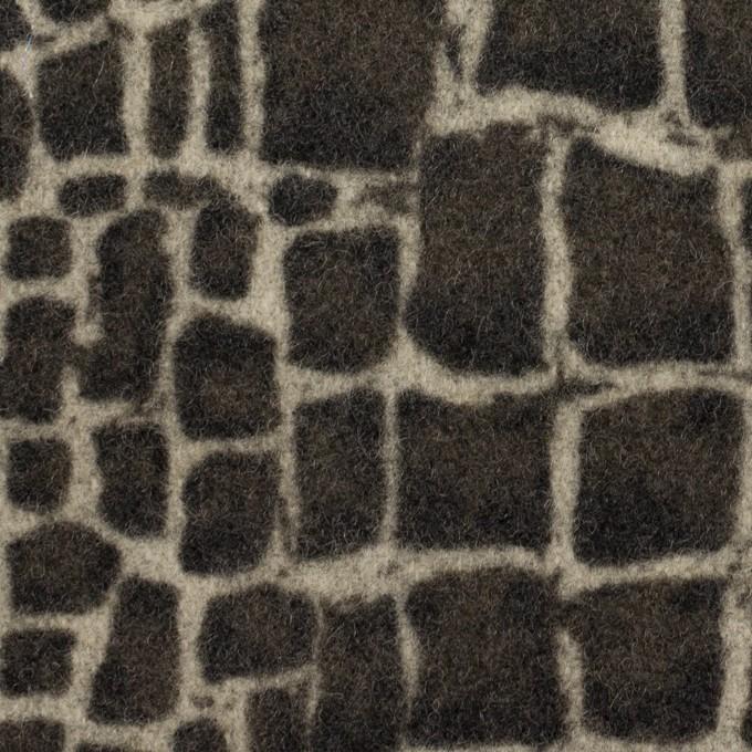 ウール×幾何学模様(チャコールグレー)×かわり織_全2色 イメージ1
