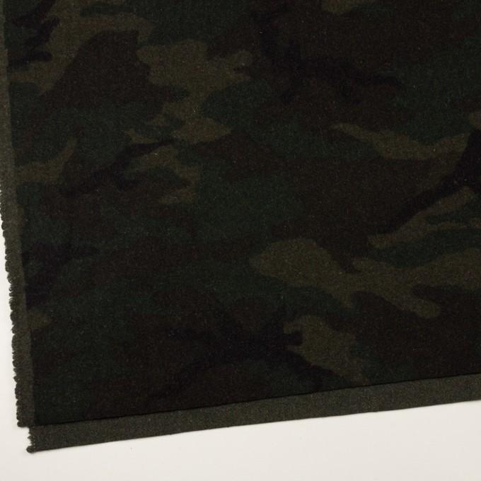 ウール&ポリエステル混×迷彩(カーキグリーン)×かわり織 イメージ2