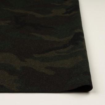 ウール&ポリエステル混×迷彩(カーキグリーン)×かわり織 サムネイル3