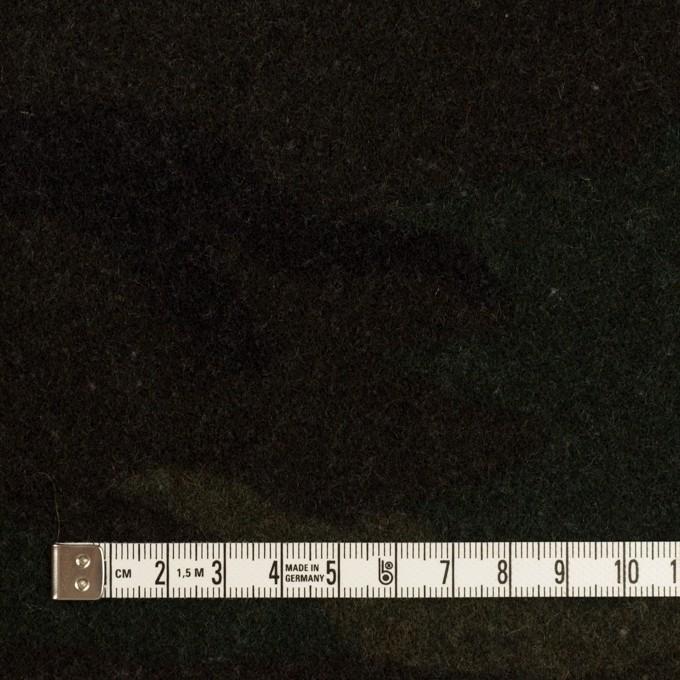 ウール&ポリエステル混×迷彩(カーキグリーン)×かわり織 イメージ4