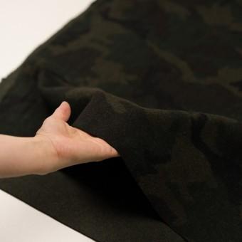 ウール&ポリエステル混×迷彩(カーキグリーン)×かわり織 サムネイル5
