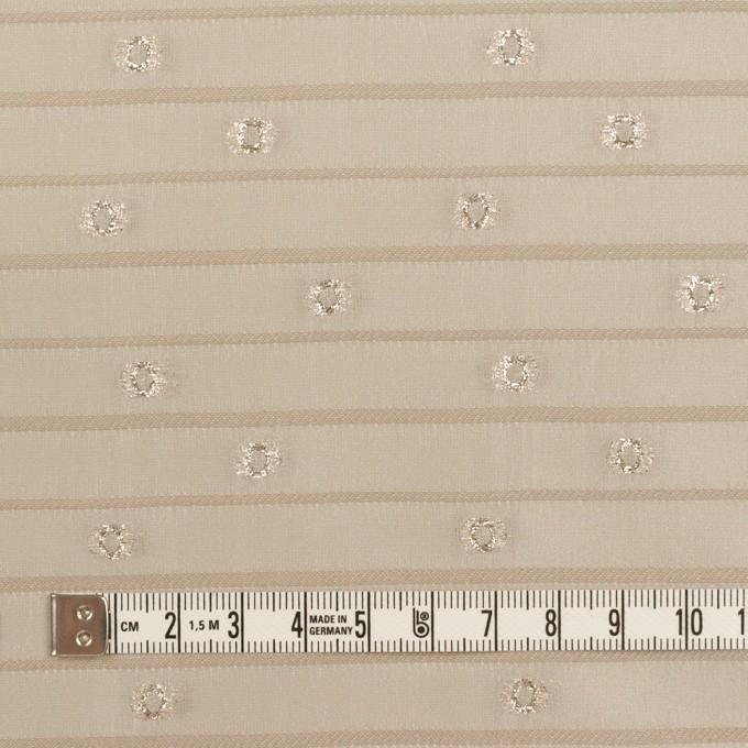 ポリエステル×サークル&ボーダー(サンドベージュ&ゴールド)×オーガンジー・カットジャガード イメージ4