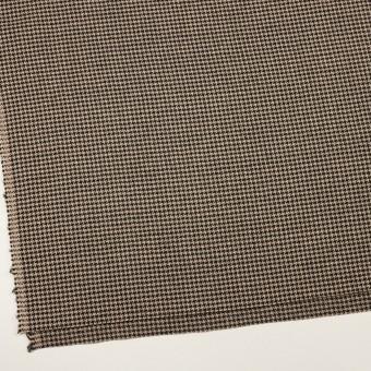 ウール×チェック(ベージュ&ブラック)×千鳥格子 サムネイル2