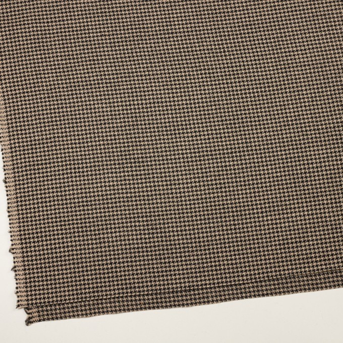 ウール×チェック(ベージュ&ブラック)×千鳥格子 イメージ2
