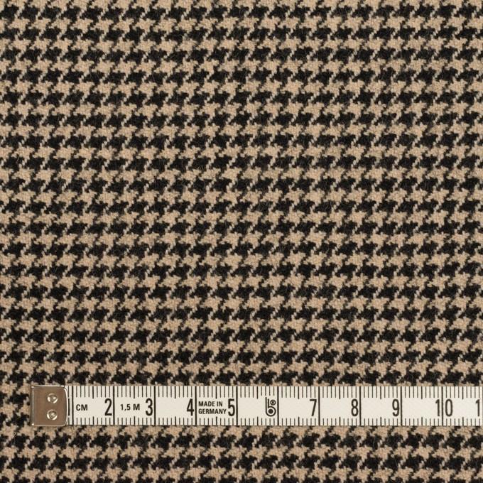 ウール×チェック(ベージュ&ブラック)×千鳥格子 イメージ4