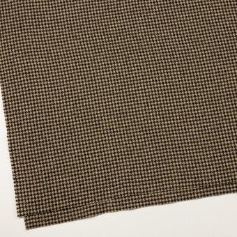 ウール&アクリル混×チェック(ベージュ&ブラック)×千鳥格子 サムネイル2