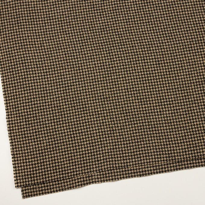 ウール&アクリル混×チェック(ベージュ&ブラック)×千鳥格子 イメージ2