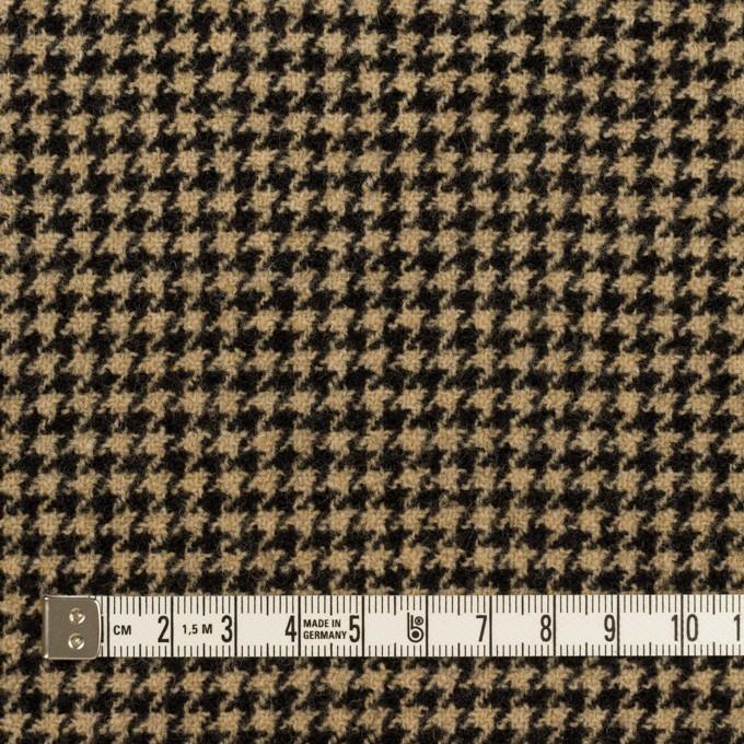 ウール&アクリル混×チェック(ベージュ&ブラック)×千鳥格子 イメージ4