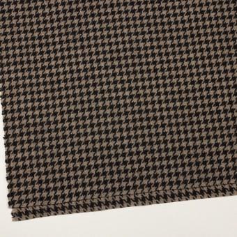 ウール&ポリエステル×チェック(グレイッシュベージュ&ブラック)×千鳥格子 サムネイル2