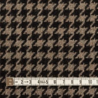 ウール&ポリエステル×チェック(グレイッシュベージュ&ブラック)×千鳥格子 サムネイル4