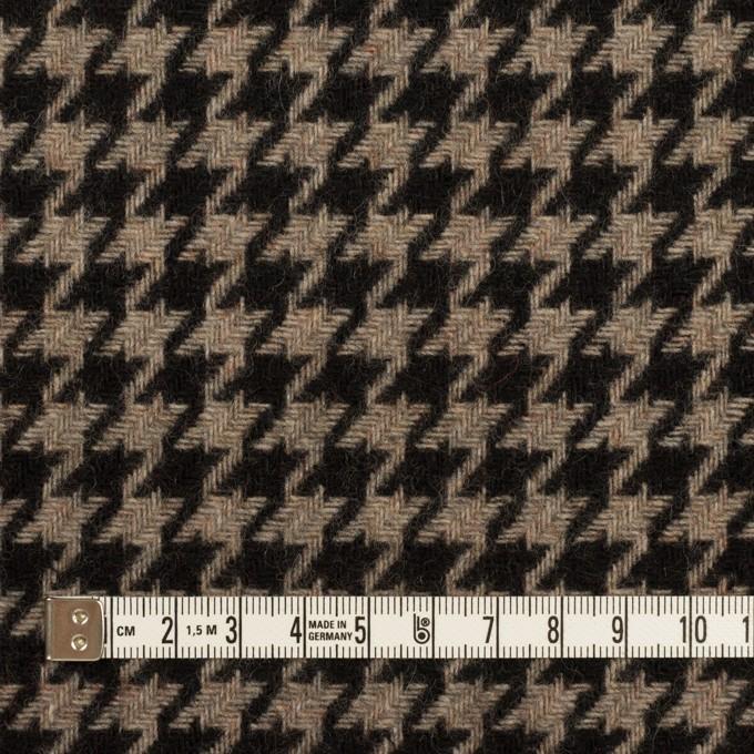 ウール&ポリエステル×チェック(グレイッシュベージュ&ブラック)×千鳥格子 イメージ4