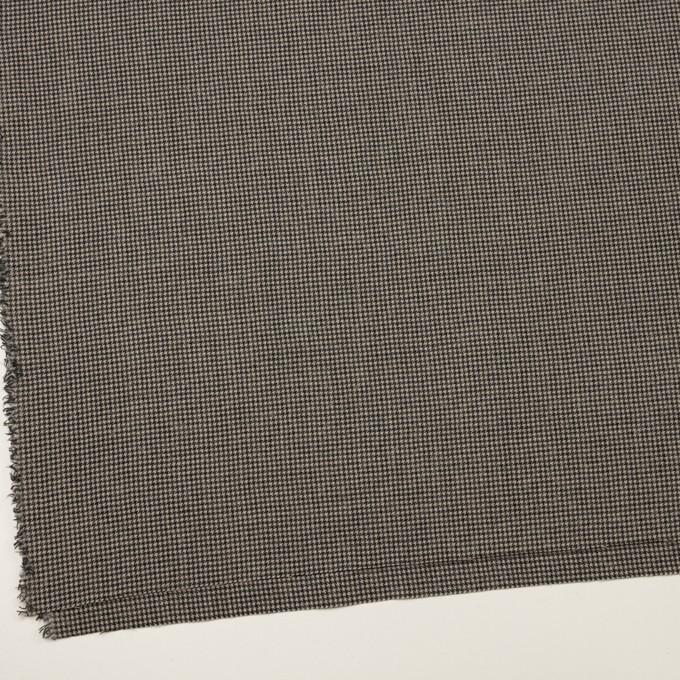 コットン&ウール×チェック(グレイッシュベージュ&ブラック)×千鳥格子 イメージ2