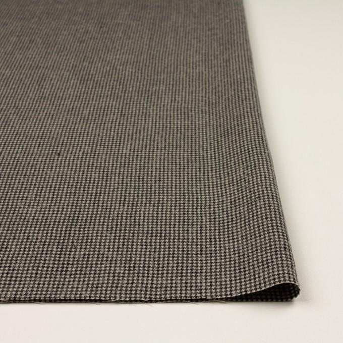 コットン&ウール×チェック(グレイッシュベージュ&ブラック)×千鳥格子 イメージ3