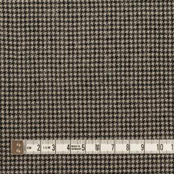 コットン&ウール×チェック(グレイッシュベージュ&ブラック)×千鳥格子 サムネイル4