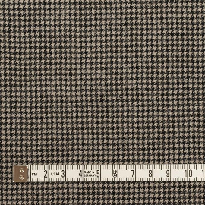 コットン&ウール×チェック(グレイッシュベージュ&ブラック)×千鳥格子 イメージ4