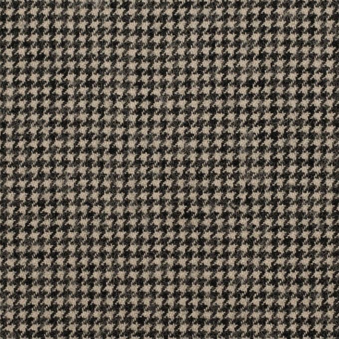 コットン&ウール×チェック(グレイッシュベージュ&ブラック)×千鳥格子 イメージ1