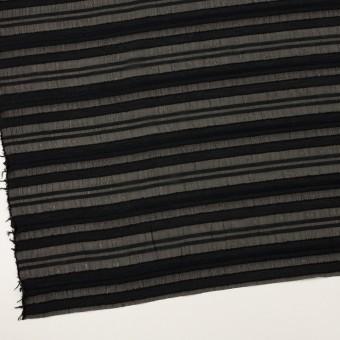 コットン&ナイロン×ボーダー(ブラック)×オーガンジー・ジャガード サムネイル2