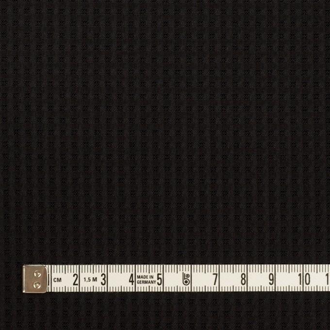 シルク×チェック(ブラック)×ジャガード イメージ4