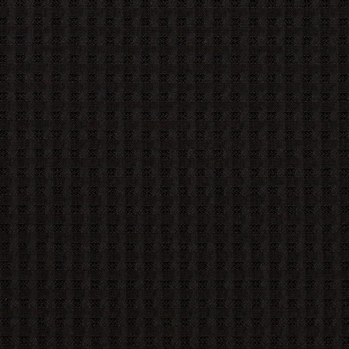 シルク×チェック(ブラック)×ジャガード イメージ1