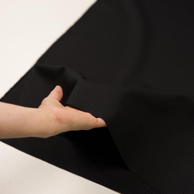 シルク×チェック(ブラック)×ジャガード イメージ5