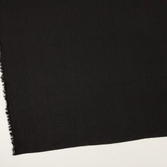 シルク×無地(ブラック)×ジョーゼット_イタリア製 サムネイル2